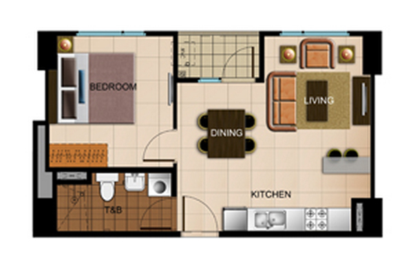 Avida Atria Storeys One Bedroom Floor Plan